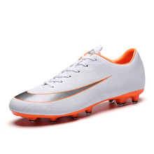 2018 Brand Sneakers Mens Soccer Shoes High Quality Cheap Boys Soccer Shoes Breathable Long Spikes Kids Football Boots 38-44