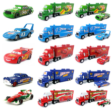Disney Pixar Cars Mack Lightning McQueen & Chick Hicks & King & Fabulous Hudson Truck Toy Car 1:55 Loose New & Free Shipping(China)