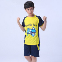 2017 Summer New Boys Football Clothing Clothing Set Sport Suit O-neck Short Sleeve Quickly Dry Training Wear Twinset Set 130-180