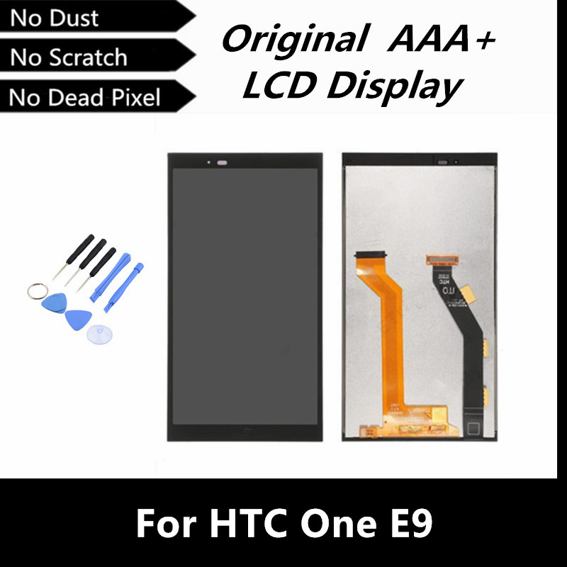 100% Tested Good Original LCD for HTC One E9 LCD Display with Touch Screen Digitizer Assembly Replacement with Free Tools<br><br>Aliexpress