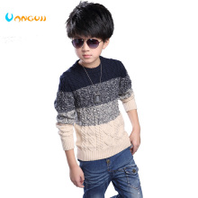 VANGULL children sweater boy cardigan brand thick line color solid stripe pattern knit sweater all-match baby sweater hot(China)