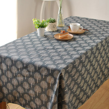 Japanese minimalist theatrical cotton cloth tablecloths coffee table computer desk table cloth cover cloth(China)