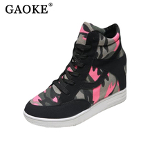 2017 Winter Fashion Shoes Woman Snow Boots Camouflage Print Boots Ladies Brand Canvas Snowboots For Women Studded Ankle Boots(China)