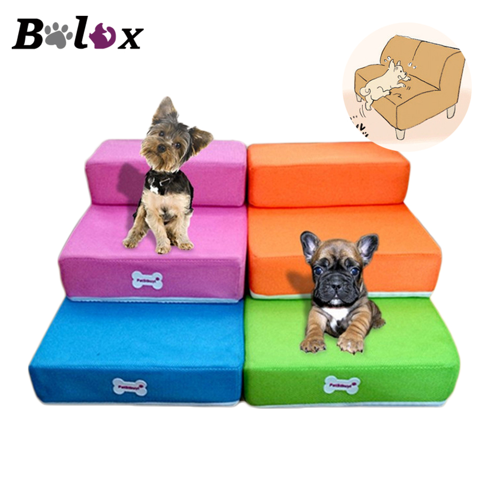Foldable pet Stairs bed for Dogs Soft Safe Puppy Dog Steps Ramp Folding Mat 2-Steps Stair Detachable Cover Pet Dog Supplies
