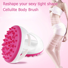 Cellulite Massager & Remover Brush Mitt - Eliminating Cellulite on Arms, Legs, Thighs & Body Silicone Slimming Relaxing Tool(China)