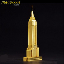 Piececool DIY Metal 3D Puzzle, Empire State Building P002G Puzzle 3D Models, Educational & Learning Toy, Kids Toys / Brinquedos