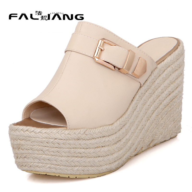 New arrival Spring Autumn plus size 11 12 Fashion Elegant Comfort Sandals Hand sewn womens shoes Wedges Super High Heel Shoes<br>