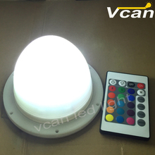 FAST Free Shipping 2016 New RGB colors change wireless rechargeable led lighting base furniture light source