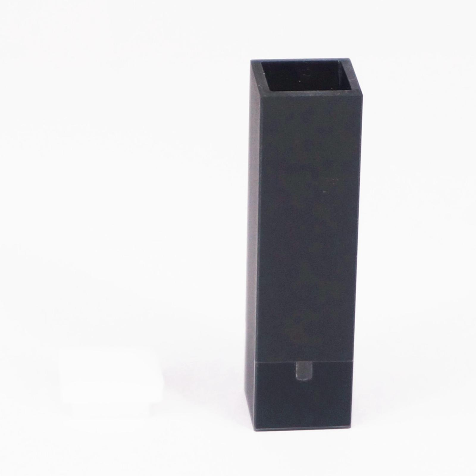 50ul 10mm Path Length Sub-Micro Quartz Cuvette Cell With Black Walls And Lid<br>