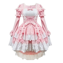 Pink costumes maid clothes anime clothing cosplay