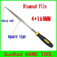 BESTIR taiwan excellent quality 120mesh sharp end square type 4*160MM Needle Files Jeweler Diamond Carving Tool NO.07034
