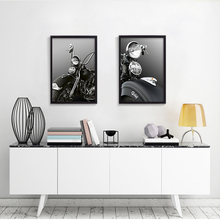 Picture Vintage Car Motorcycle Poster Minimalist Art Canvas Painting Black White Wall Picture Print Modern Decor Unframed