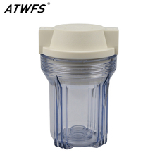 ATWFS High Quality Thicken 5'' Water Filter Housing 1/2'' 1/4'' Transparent Bottle Water Filter Parts ro system