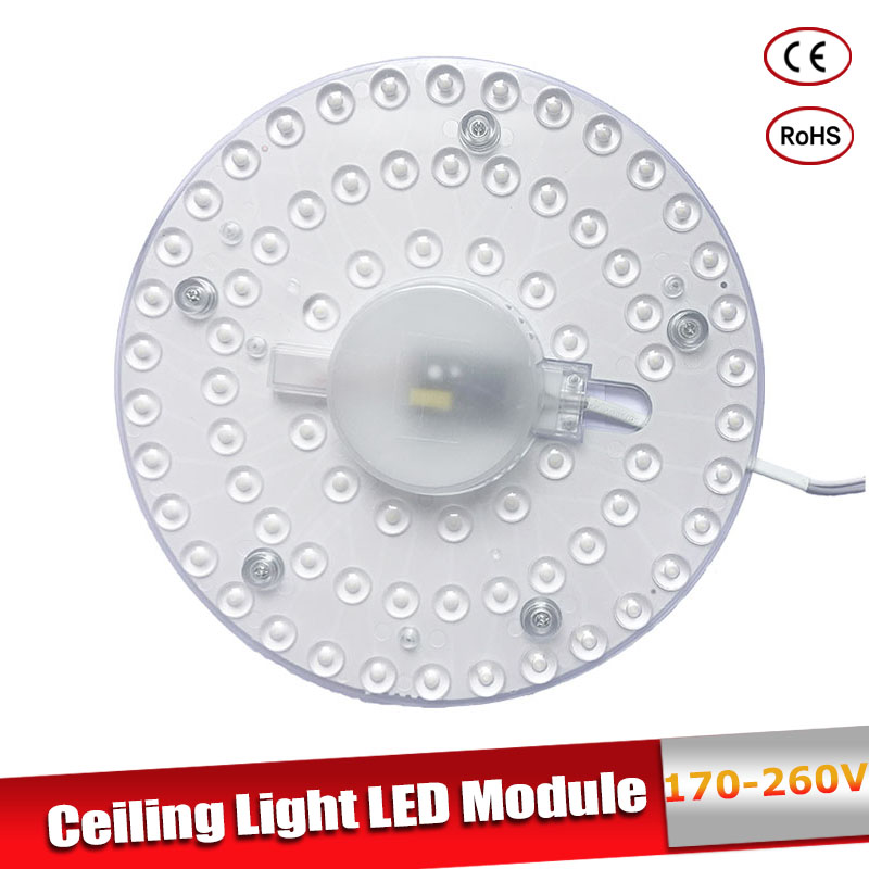 Led Module Light AC220V 230V 240V 12W 18W 24W 36W Energy Saving Replace Ceiling Lamp Lighting Source Convenient Installation