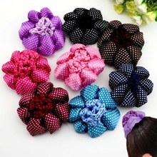 Hot Dot Shiny Girl Women Bun Cover Snood Hair Net Nets Beautiful Ballet Dance Skating Crochet Snoods Hair Accessories