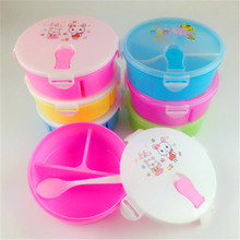 Comic Plastic Food Container Meal Lunch Round Food Storage Box Bento for kids container for food meal