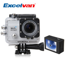 Excelvan Q5 2.0 Inch 30M Waterproof Sports Action Camera 12MP H.264 1080P Suport 32GB Max HD DV Wi-Fi Anti-shake DV Silver