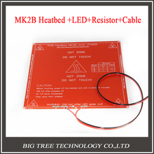 RepRap mendel PCB Heatbed MK2B with led and Resistor and cable for Mendel 3D printer hot bed 3d printer parts