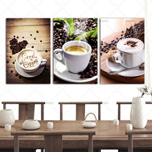 3 Panels Wall Art Picture Canvas Paintings Wall Decoration Unframed Canvas Photo Prints Modern Kitchen Scene Coffee(China)