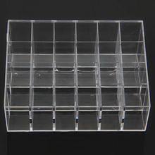 Clear Acrylic 24 Grids Cosmetic Organizer Makeup Sundries Case Storage Box