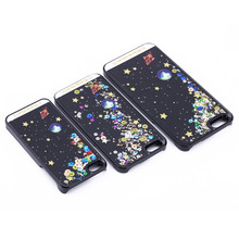 "For iphone SE 5S 6s 4.7"" Plus phone Back Cover Skin Case Dynamic Liquid Glitter Sand Quicksand Star For iphone"