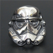 2016 Top Quality Stormtrooper Alien Ring Mens Personality Ring Movie Style Star Wars Ring 316L Stainless Steel Jewelry