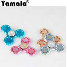 [Yamala] Finger hand Spinner Fidget Spinner EDC Sensory Cent Decorate finger spiner metal For Autism and ADHD Adult Anti Stress