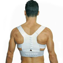 Best Deal Men Women Magnetic Posture Support Corrector Back Belt Pain Feel Young Belt Brace Shoulder Chest Belt(China)