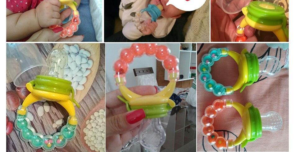 Nipple Fresh Fruit Milk Nibbler Feeder for Infant Baby Pacifiers Kids Safety Feeding Tool Supplies Nipple Teat Pacifier Bottles