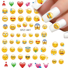 1pcs 2017 Hot Lovely Cute Express Designs Water Transfer Nail Sticker Nail Art Decorations Wraps Temporary Tattoo TRSTZ440-443(China)