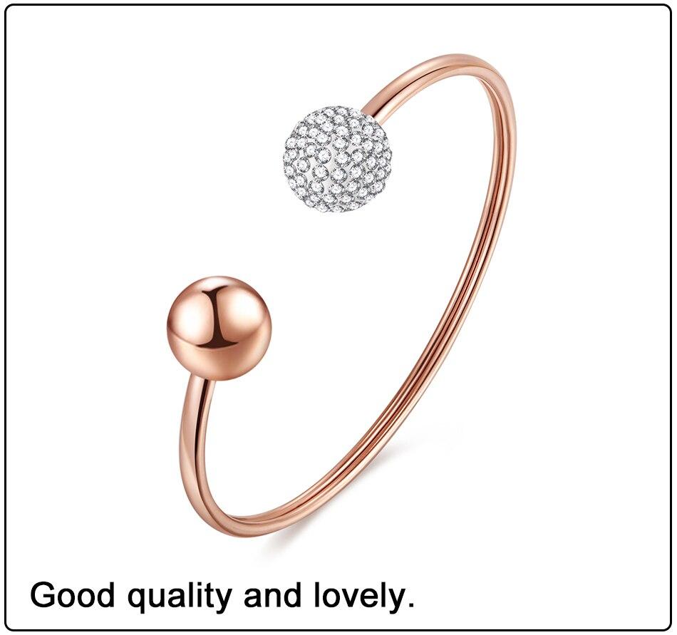 Gold Bracelets Bangles Stainless Steel (3)