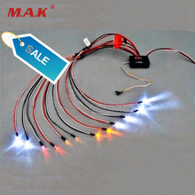For RC Model Car Truck 1/10 LED Light Kit Brake + Headlight + Signal Fit RC Car truck 1/10th 2.4ghz PPM FM(China)