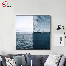 Iceberg Poster Scandinavian Canvas Painting Nordic Art Print Seascape Wall Picture For Living Room Modern Home Decor No Frame(China)