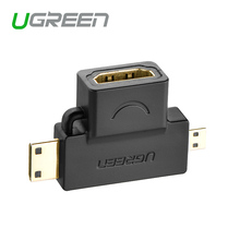 Ugreen 3 in 1 Mini HDMI Male Micro HDMI male to HDMI Female Converter adapter for tablet pc tv mobile phone HDMI adapter