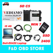 New generation Mb Star C5 sd Connect+E6420 i5 4g laptop 2017-7 Vediamo+DTS mb star diagnosis c5 Top Quality Fast Delivery for MB