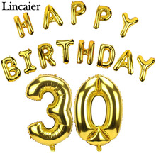 Buy Lincaier 32 inch 62cm 30th Birthday Balloons Happy 30 Years Party Decorations Men Women Supplies for $1.27 in AliExpress store