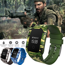 Best Price ! !Military camouf Sport Waterproof Bluetooth Smart Watch Phone Mate For Android IOS+3 Colors Free Shipping NOM04