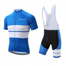 Blue Stripes Breathable Cycling Jersey Design Cycling Clothing MTB bike tops