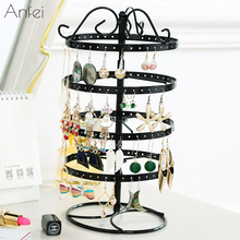 Metal Earrings Organizer Rotating Earring Holder Jewelry Display Necklace Display Rack Earring Storage Tree Classic A231