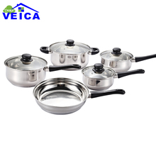 2017 New High-grade Stainless Steel 5 Peices Cooking Pots With Frying Pan Stainless Steel Pot Hot Pot And Pans Cookware Set