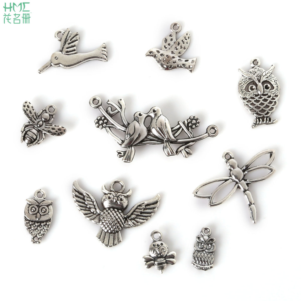 Free shipping 6//30pcs Retro Style ancient silver alloy eagle Charms Pendants