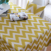 Nordic style geometry cotton linen tablecloth table cloth   bright cloth can be customized wholesale Decorative cloth for tablec