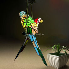 HAIXIANG Hot Novelty Bird Pendant Lights Child Bedroom Parrot Lamps for Balcony Outdoor Home Decoration Kid's Room Lighting E27