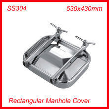 530x430mm SS304 Stainless Steel Rectangular Manhole Cover side Manway tank door way(China)