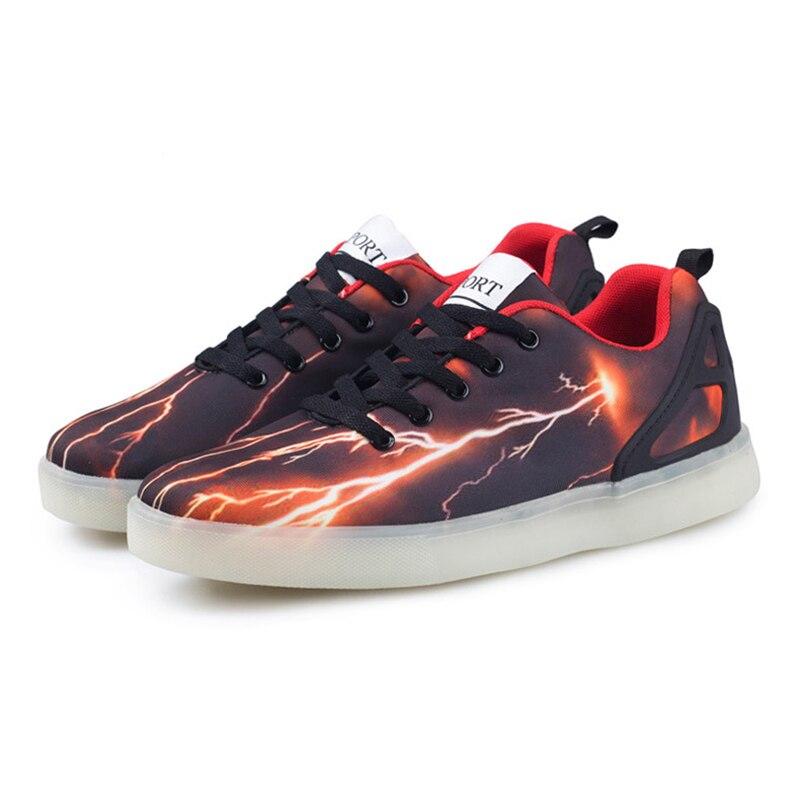 2017 LED Light Up Unisex Chaussures Lumineuse Zapatos Schoenen White Black schuhe luminous Femme Adults Couples Casual Shoes Men<br><br>Aliexpress
