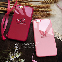 Retail Hot Selling Cute Lovely Butterfly Bow Coque Silicon TPU Soft Back Cover Case For Apple iphone 5 5s 5se 6 6s plus 7 7 pl