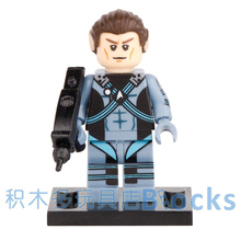 Single Sale Movie Star Trek Captain Spock Enterprise SUPER HEROES star wars minifig Model DIY Building Blocks Kids Toy Gift