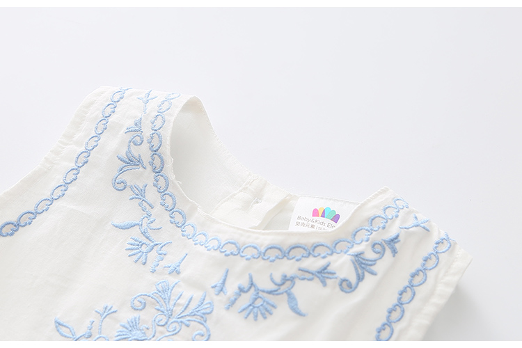 2018 Hot Summer 2-10 Years Brief Kids Lace Embroidery Flower Floral Sleeveless Flounce Vest Tank Sundress Girls Dress Cotton (21)