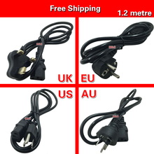1.2m AC Power Supply Adapter Cord Cable Lead AC Adapter Power Connector Line Lead EU / US / AU / UK Plug Power Cords