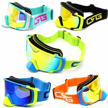 New Arrive Brand  Anti-UV Ski Goggles Skiing Eyewear Mask Glasses Men Women Snow Snowboard Motorcycle Goggles Dirt Bike Glasses